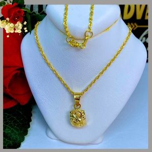 18K Real Gold Necklace